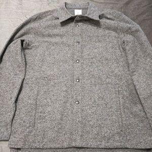 Gap Brand New Gray Flannel Shirt/jacket Size L